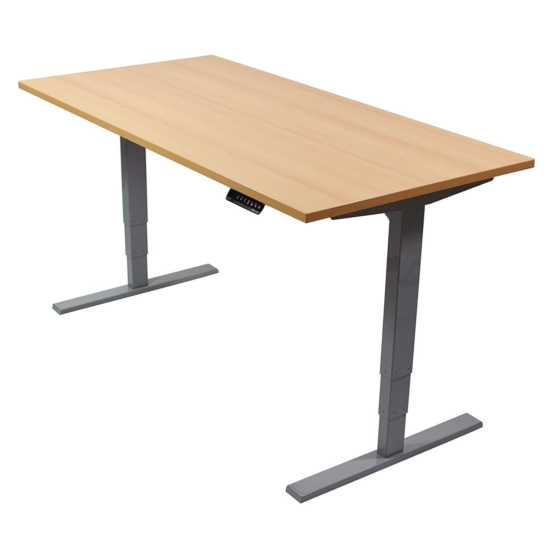Schreibtischplatte Holz 180 x 80 cm Grau melaminharzbeschichtete Tischplatte NEU